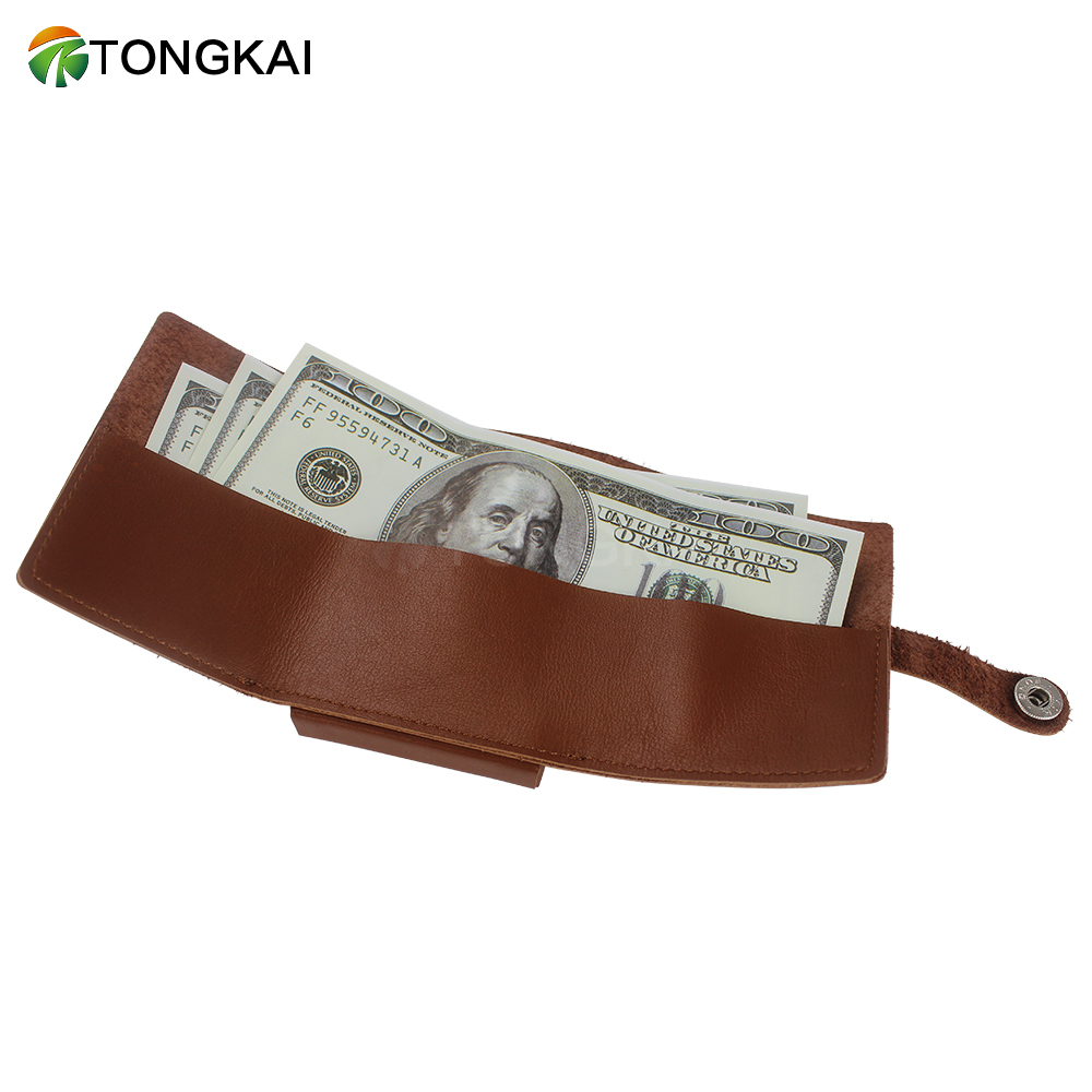 Tri-fold Travel PU Leather Card Wallet for Men