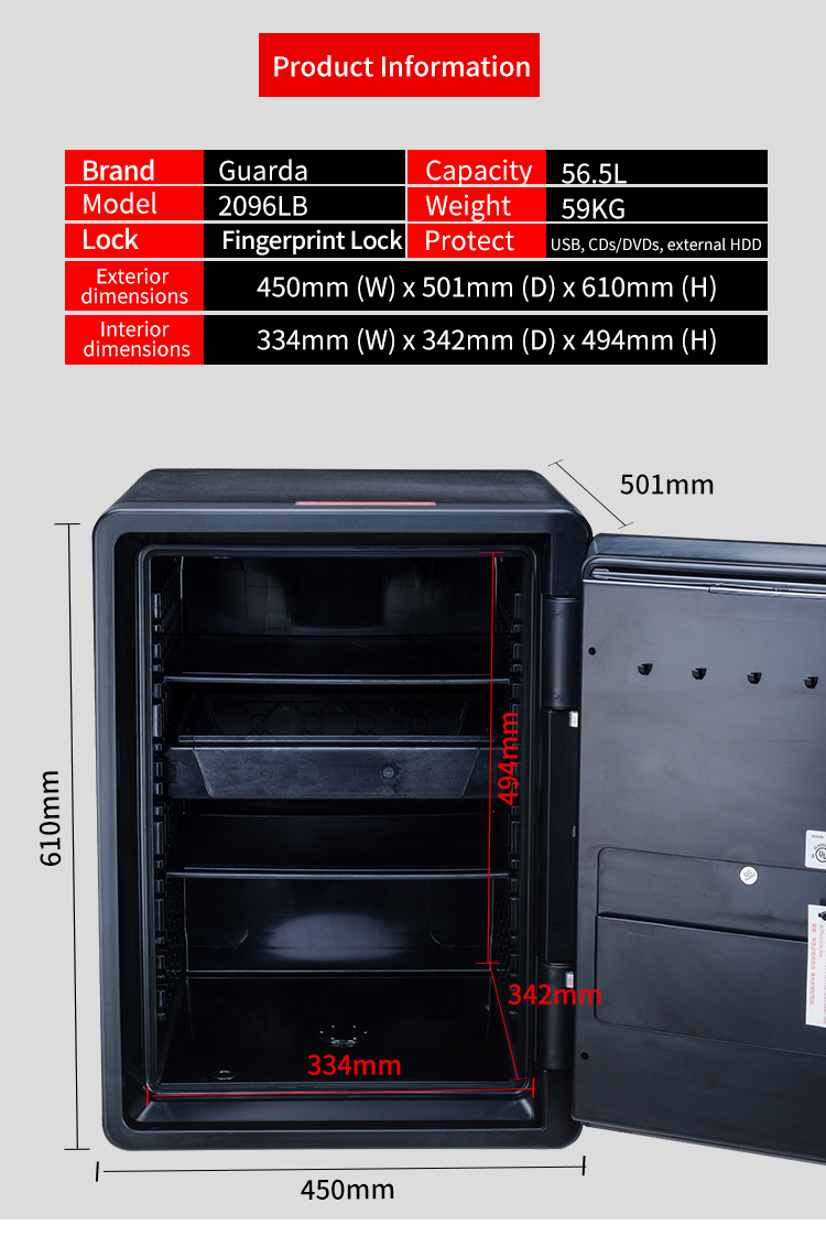 Guarda solid fireproof safe box factory for file-4