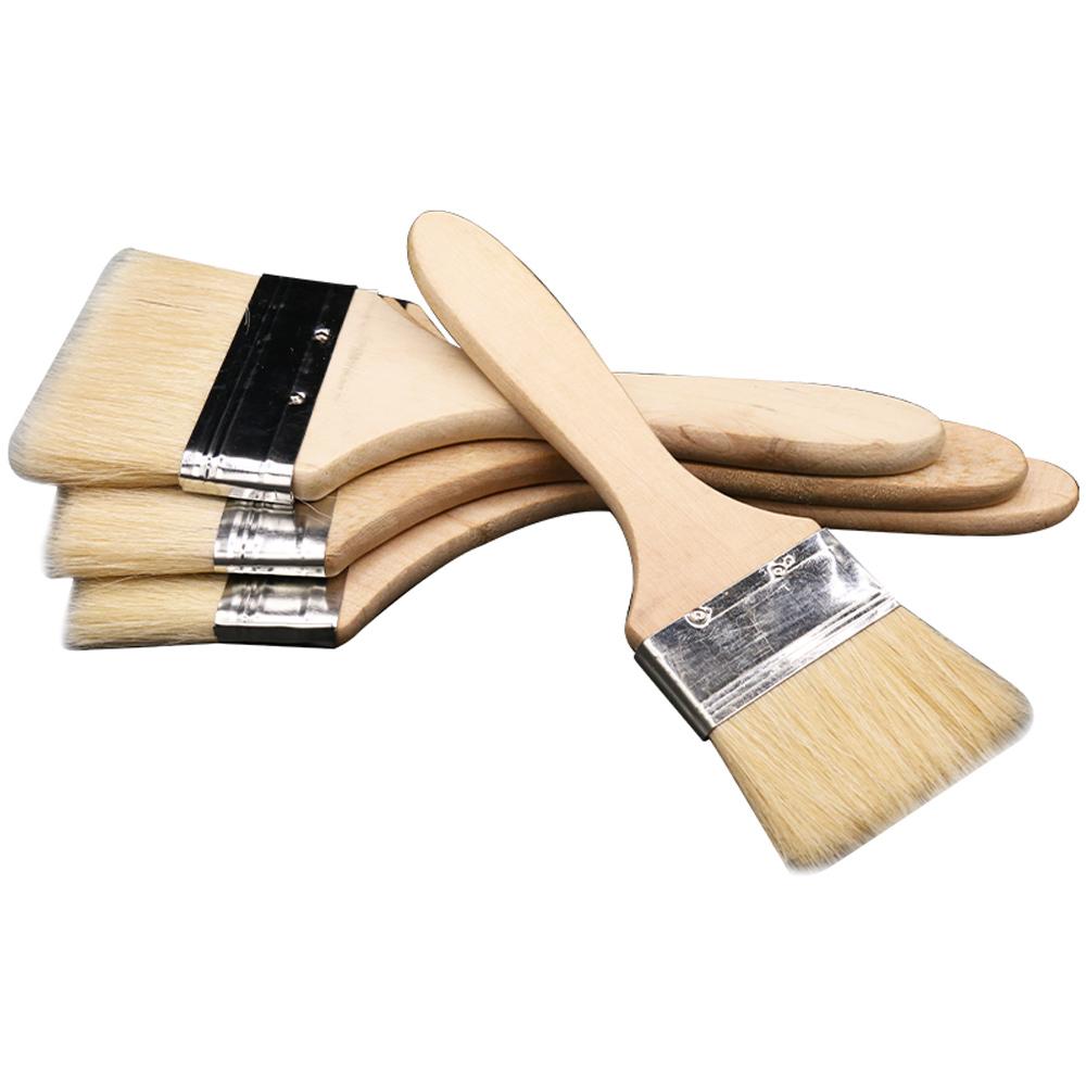 Pincel para pintura, ferramenta banhada a ouro tipo 3, bolosy de limpeza, de lã de cabra