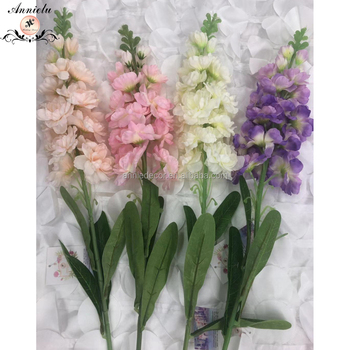 ANNIELU hot sale violet flower wedding party artificial flowers silk flower