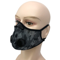 2020 new print Camouflage Motorcycle Cycling Face Cover with Filter hange mesh face mouth shield with earloop