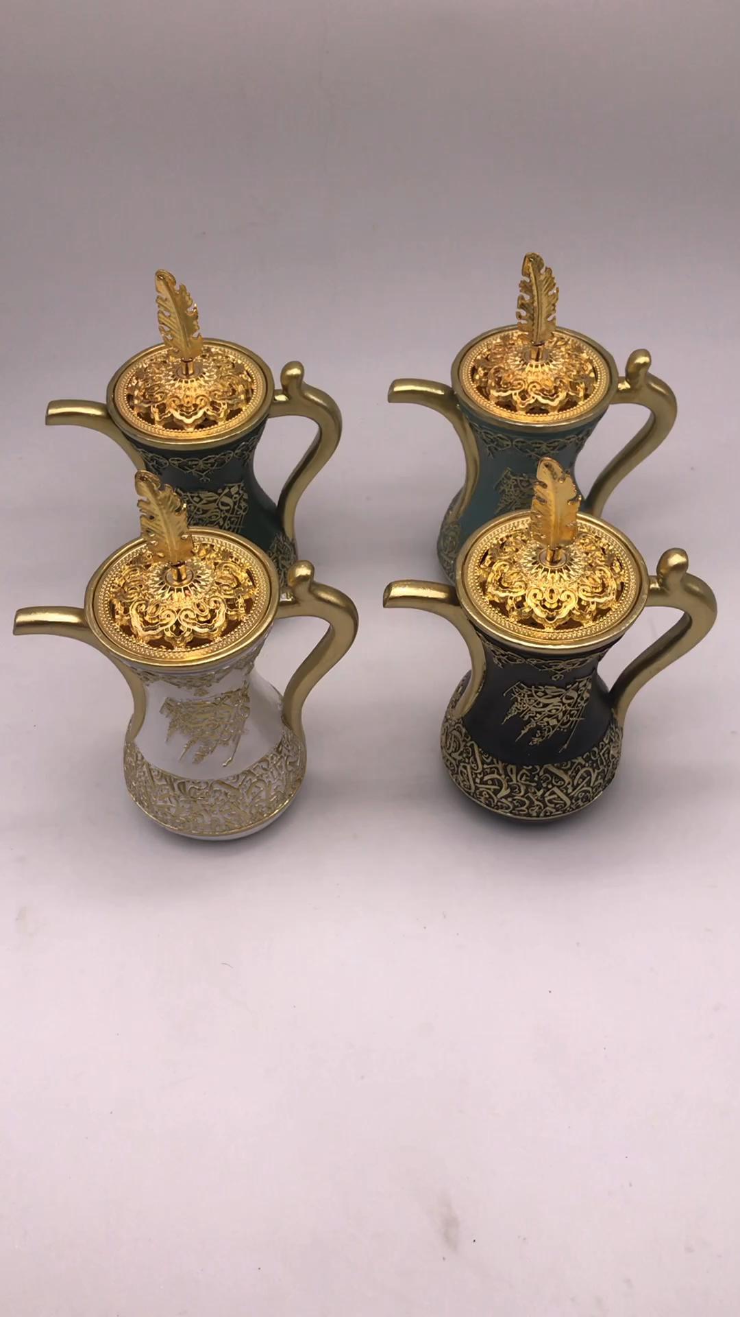 Hot sale 2020 New Resin Mubkhar Arabic Incense Burner Sets Wholesale