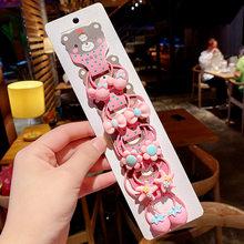 1 комплект Kawaii Мультфильм Принцесса для женщин девочек Дети эластичные волосы резиновые ленты аксессуары галстук веревка для волос головно...(Китай)