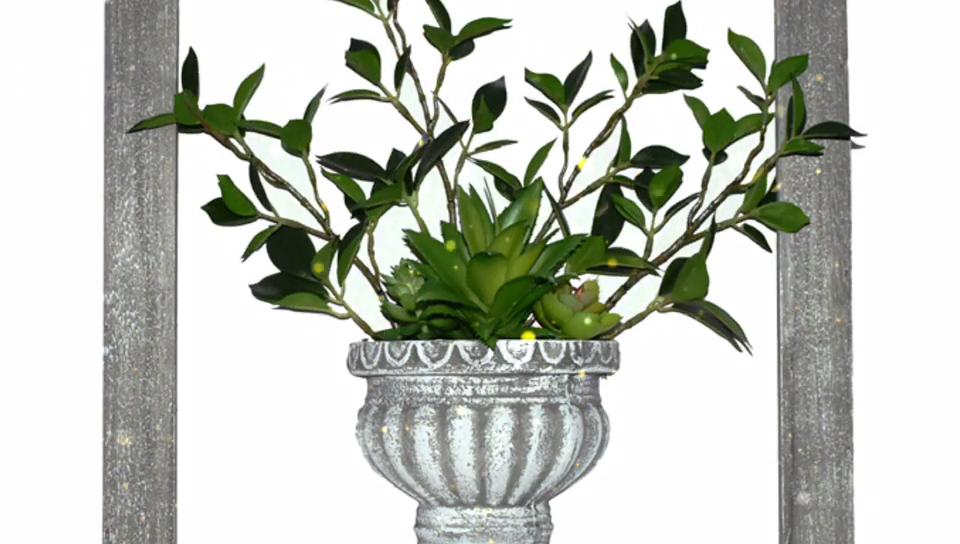 Yapay bitkiler oturma odası bitki kombinasyonu + fotoğraf çerçevesi masa Mini manzara ev balkon süslemeleri