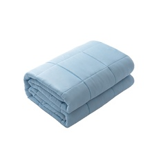 100% Polyester Anxiety Insomnia Autism Adult Breathable Solid Color Sky Blue Weighted Blanket