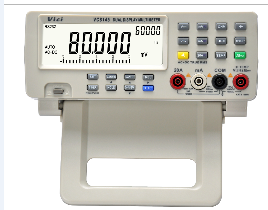 VC8145 Auto Range 80000 Digits Bench Top Multi Metro Digital