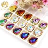 High Quality K9 Glass Crystal AB Drop Shape Sew On Rhinestones