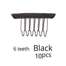 Nunify 10-20 шт черный коричневый цвет тканевый парик расчески 6 зубьев заколки для волос для полного шнурка парик шапка аксессуары для парика гр...(Китай)