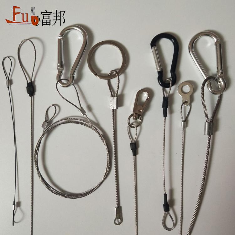 304 ステンレス鋼ワイヤーロープ PVC コーティング柔らかくケーブル牽引鋼ワイヤーロープスリング