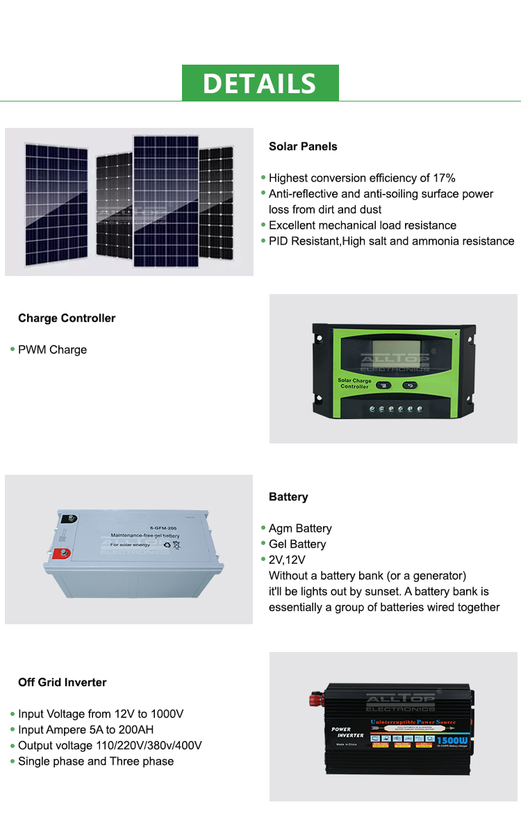 ALLTOP Hot sale high frequency sine wave inverter 1kw 2kw 3kw 5kw 6kw hybrid solar energy system