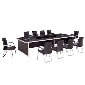 classic wooden 2/4/8 persons office big thickness conference table for meeting room