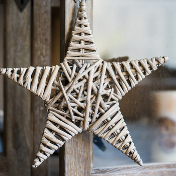 Wall Decor Grey Star Ornaments Hand Made Home Decorative Products