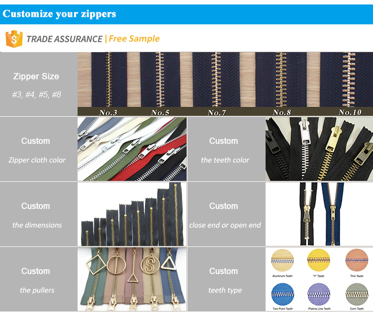 factory Direct Supply Good Price Colorful Multiple Color Metal Dress long zippers