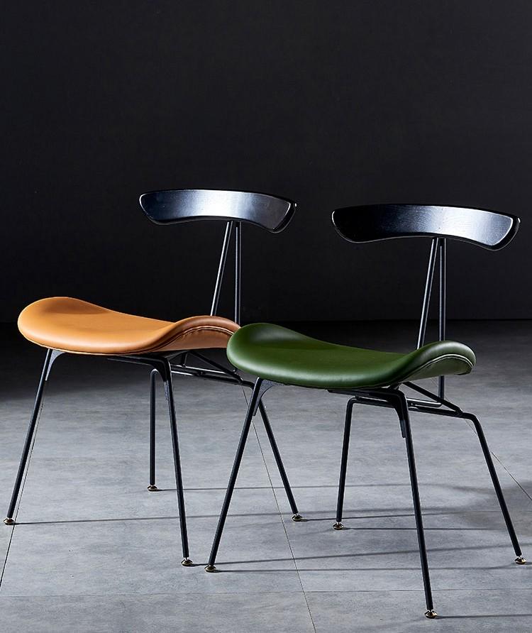كرسي طعام بإطار معدني عتيق صناعي إبداعي من تصميم شمالي كرسي طعام على شكل النمل