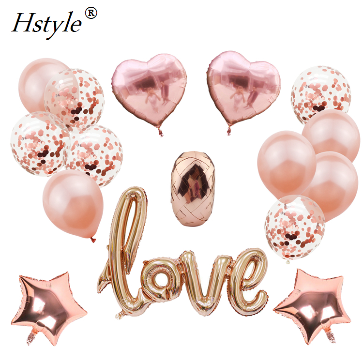 Rose Gold Love Balloons Kit <strong>Valentines</strong> <strong>Day</strong> Decorations and <strong>Gift</strong> <strong>for</strong> <strong>Him</strong> or Her Rose Gold Foil Heart Balloons Decorations SET315
