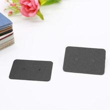 100 шт 2,5x3,5 см серьги карты упаковка серьги Дисплей Держатель для карт картон чистая Крафт-Бумага бирки для DIY ювелирных изделий дисплей(Китай)