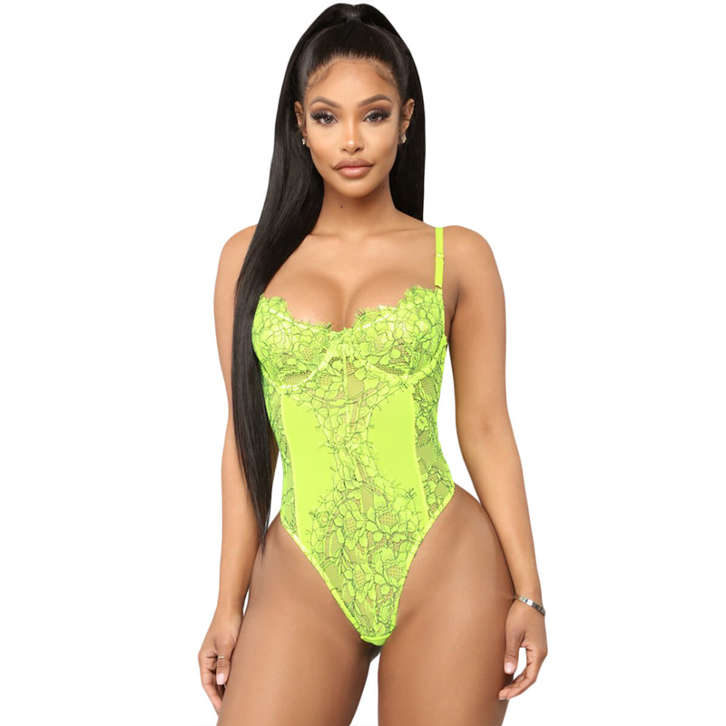 Sexy Hot Lace Teddy Lingerie Hig Legging Women Bodysuit