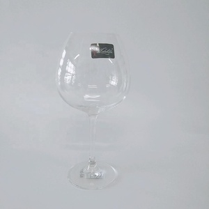Wholesale Custom Personalised Cheap Borosilicate Giant White Colored Crystal Glasses Drinking Goblets wine glass
