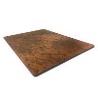 Construction Materials Fireproof Wall Cladding Copper Brushed Composite Panel