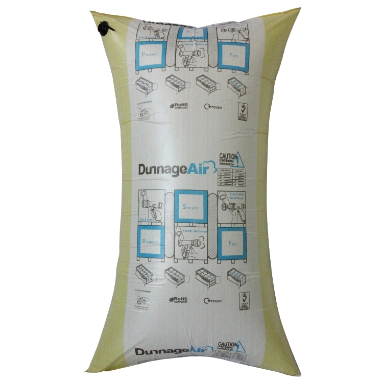Recyclable High Working Pressure Pillow Dunnage Air Bag for Cargo Securement