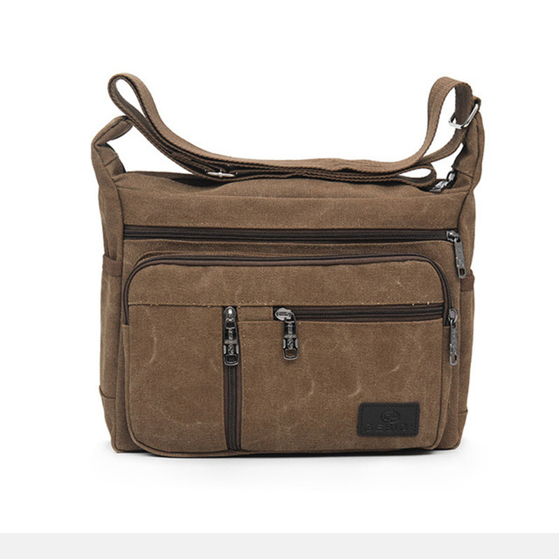 ODM  Latest Design Fashion Chest bag Travel Men canvas crossbody Bag