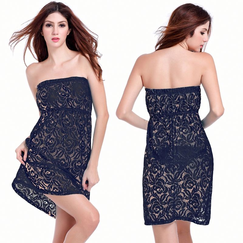 Factory High quality lace Sexy <strong>Bikini</strong> Solid women Swimwear <strong>Cover</strong> <strong>Up</strong> Beach Dress wholesale