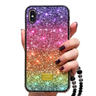 Free Shipping Phone Case Colorful PC TPU Diamonds Glitter Case Cover for iPhone 11 Pro Max 2019 XS X 6 6s 7 8 Plus