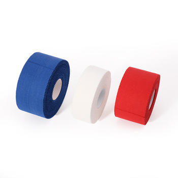 white athletic tape sporting goods with zinc oxide hot melting adhesive zigzag/ easy tear sports tape