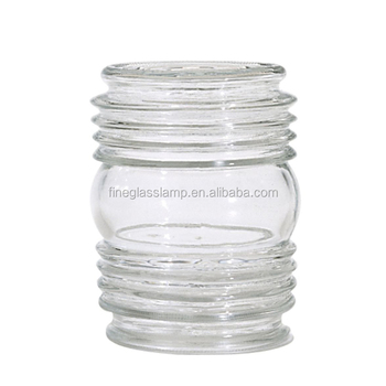 Clear Glass Cylindrical Lamp Shade Globe Lamp Cover