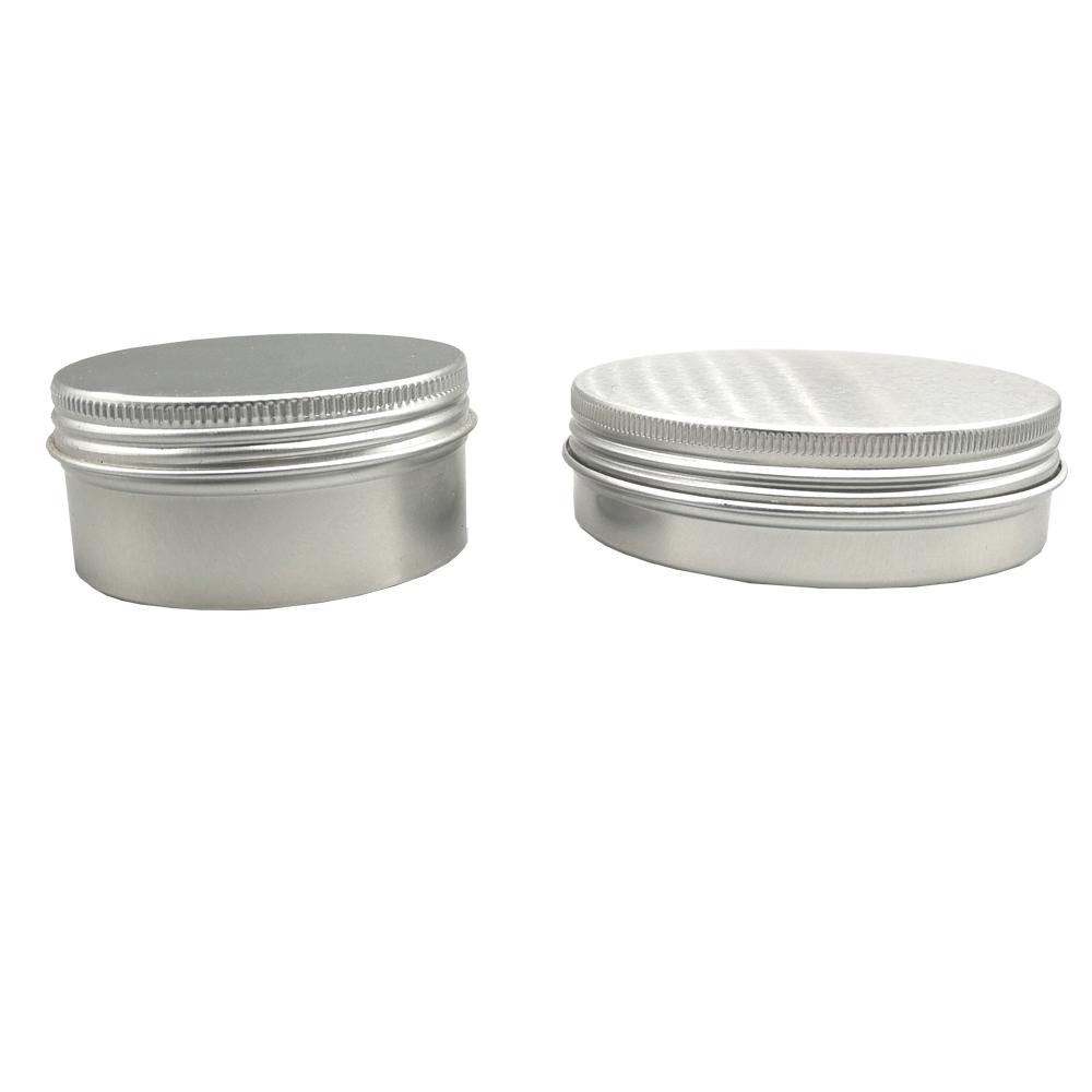 Hohe Qualität Haar Pomade Kosmetische Verpackung Natürliche Aluminium Dosen Schraube Top 200g Chaos Schwarz Aluminium Zinn