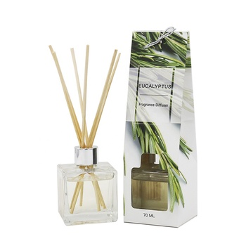 70ml liquid Elegant style home fragrance reed diffuser with glass bottle