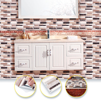 Factory produced customize wall brick decor Easy to Clean 3d peel and stick kitchen tiles gel wall sticker