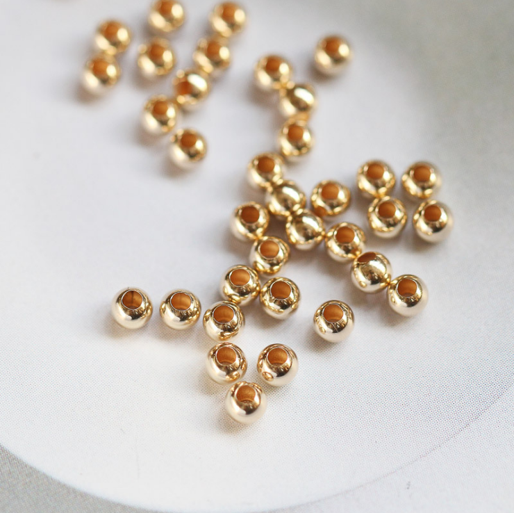Top Quality Real 14K Gold Filled Beads Gold Spacer Beads For Beaded Jewelry
