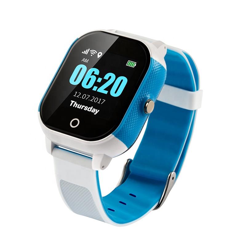 FA23 شاشة تعمل باللمس بطاقة SIM مقاوم للماء واي فاي Smartwatch الطفل لتحديد المواقع تعقب الاطفال ساعة ذكية