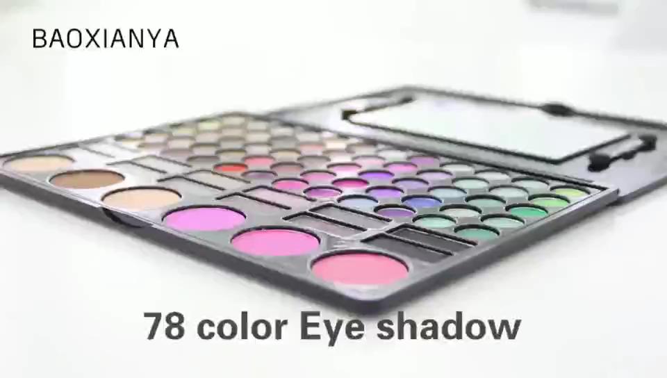 Groothandel Oem Kleurrijke Cosmetische Natuurlijke Matte Eyeshadow Palette Private Label Custom 78 Kleuren Eye Make-Up
