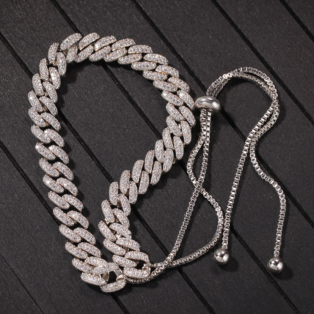 product-New Adjustable Clavicle Chain Woman, Zircon Cuban Box Chain Exquisite Pull Adjustable Neckla