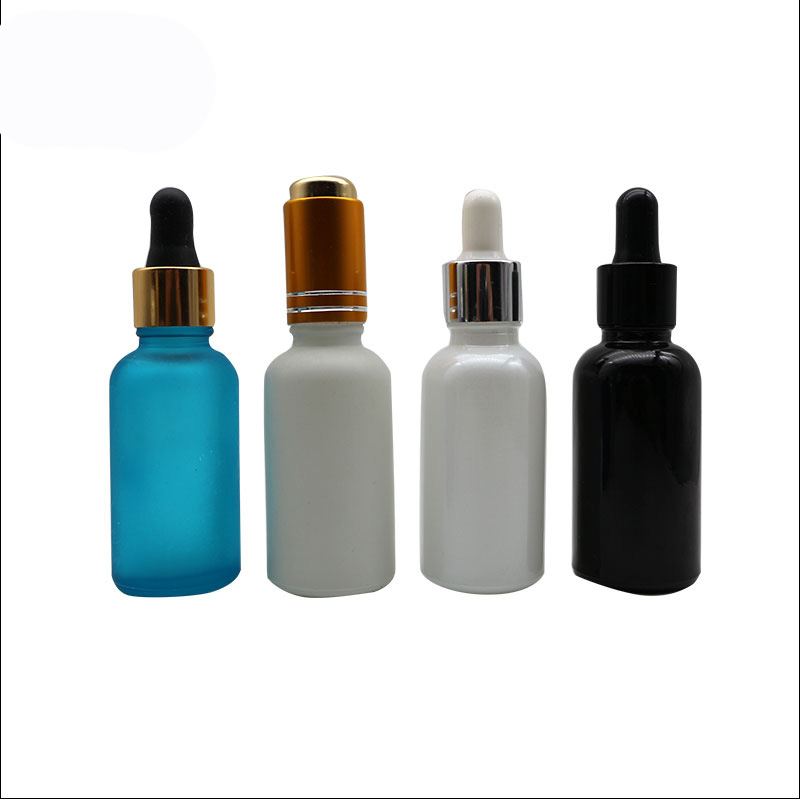 Hotest 10ml 20ml 30ml 50ml Cosmetic E liquid Matte Frosted <strong>Black</strong> Glass Dorpper Bottles