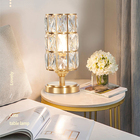 Lamp 2020 Factory Price Modern Home Decorative Metal Lampshade Bedroom Luxury Crystal Table Lamp