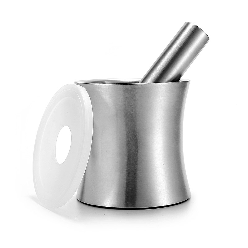Heavy duty garlic pugging pot large mortar and pestle