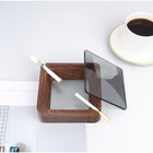 Factory Stimps Fold Wood Bamboo Ashtray