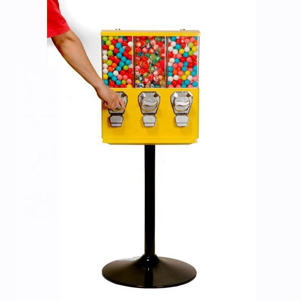 Triple Head Bulk Candy Vending Machines Triple Gumball vending Machine for Sale