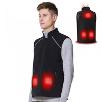 Fashion unisex winter windproof adjustable warm 5v usb charging heated vest for men