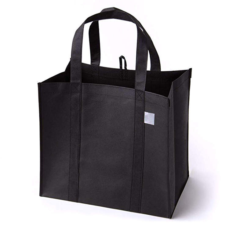 Wholesale custom logo eco friendly grocery shopping reusable tote non woven bags