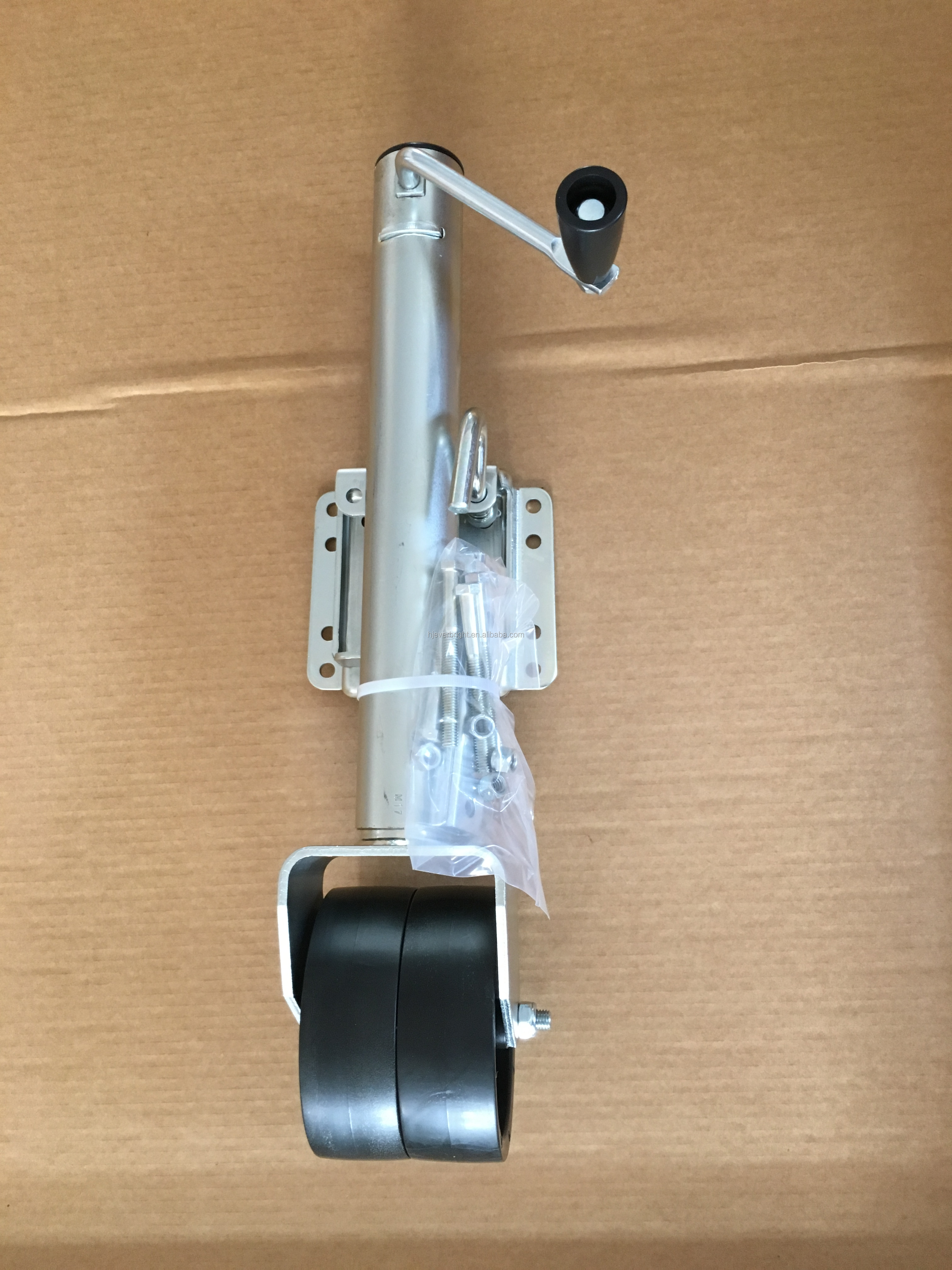 "1500lbs trailer jack with dual 6"" plastic wheel"