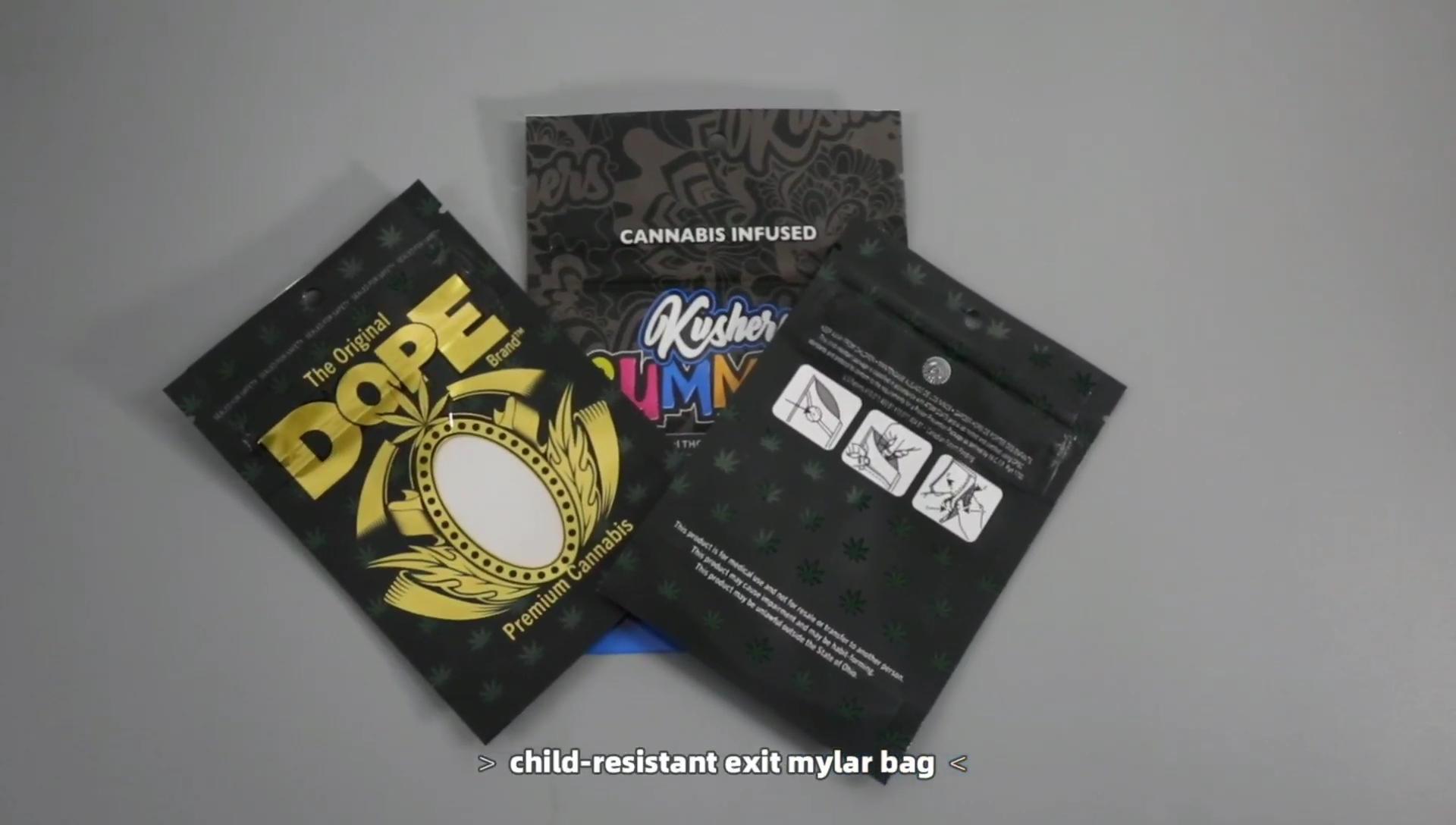 Individuell Bedruckte Mylay Geruch Proof Doppel-reißverschluss Kunststoff Kind Beständig Unkraut Verpackung Taschen