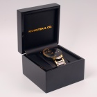 Professional Plain Piano Gloss Square Black Watch Box Wooden