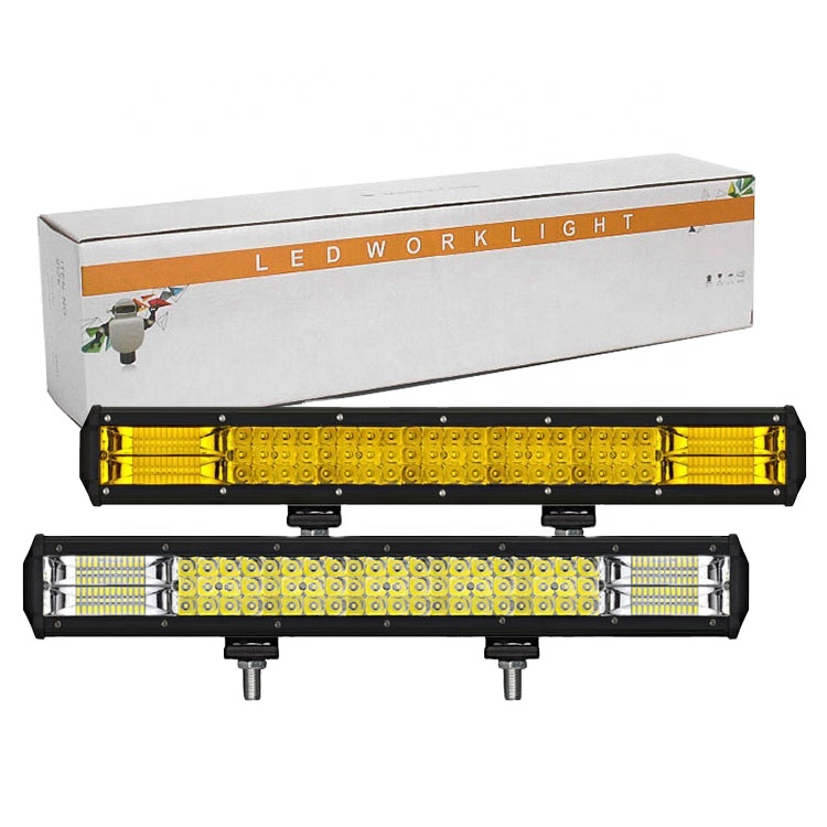 LKT Manufacturers direct sales car led working lights 20 inches 288w three row of long strip suv roof strip spotlights