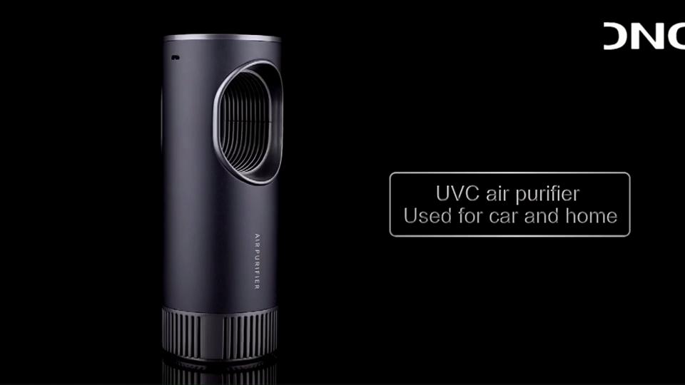 タッチスイッチディスプレイポータブルスマートカーイオナイザーエアクリーナーuvライト空気清浄機hepaフィルター