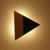 CE approval Iron triangle modern Wall Lamp with G4