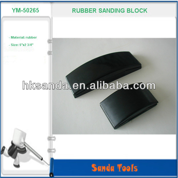 hot sale solid hard recycled rubber sanding block
